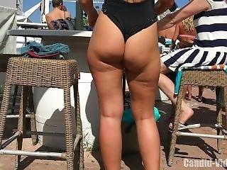 Amazing Candid Beauties Having Fun In The Pool Bar, Hot Girls Sexy Bikinis!