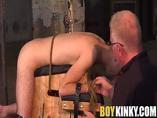 Second Part Of A Three Part Tormenting Show Where Nasty And Horny Master Sebastian Kane Torment His Young Blond Twink Slave!