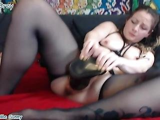 Naughty Wife Extreme Big Toys Fuck And Gaping Pussy 2
