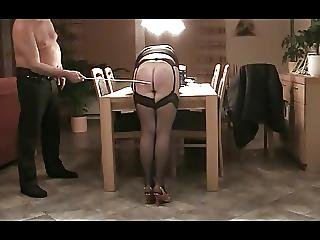 Bdsm, Caning, Home, Homemade, Nylon, Spanking, Stocking