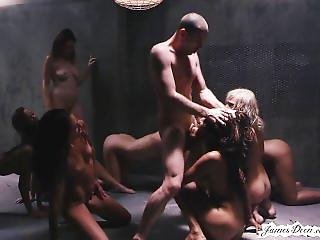 James Deen Punishment Of 9 Girls In Rough Groupsex Reverse Gangbang