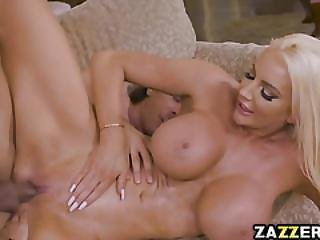 Nicolette Got Her Pussy Pounded By Her Husbands Dick And A Strapon