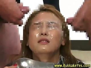 Asian Bukkake Sluts Facially Cum Drenched
