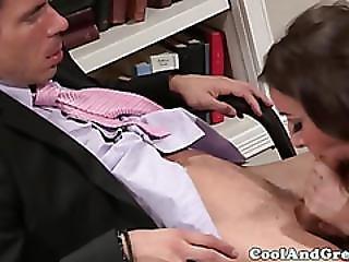 Glam Babe Sucks A Dick Close Up