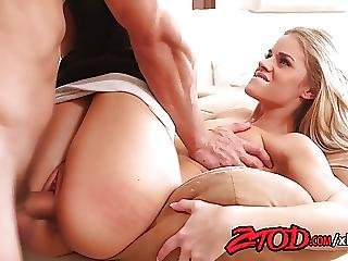 Blonde, Blowjob, Teen, Yoga