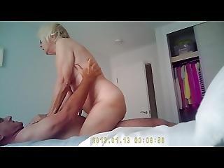Sexy Granny Caught Shagging On Hidden Camera