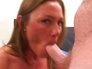 Really Big Tits Sucks Dick Pov Style Cum In Mouth
