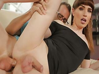 Ts Natalie Mars Enjoys Anal In The Couch