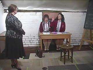 Spanking Two Mature Schoolgirls