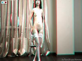 Beautiful Teen Girl Posing Nude 3d Backstage