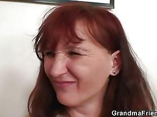 babcia, babunia, dojrzała, poker, połyk, trójkąt, młoda