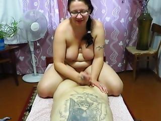 Jerking Big Tits And Handjob