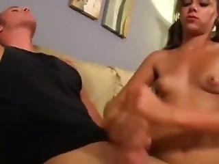 brat, wytrysk, stymulacja wacka dłonią, masturbacja, drażnienie