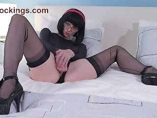 Ffstockings - Mature Julia Blowjob And Fingering