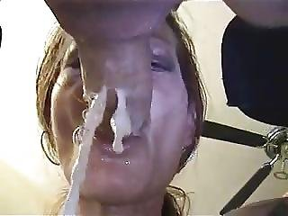 Messy Deepthroat And Gagging Finger In Ass