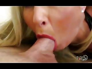 Horny Blonde Milf Is Oral Pro With A Big Cock And Cum Facial