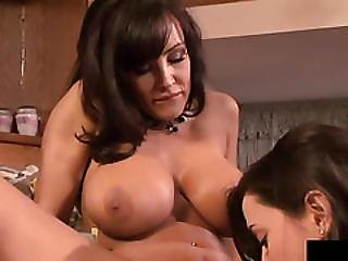 Georgia And Lisa Are Fucking With Double Ended Dildo