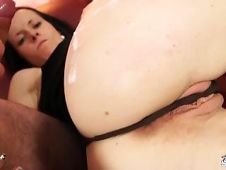 Black Hair Student Dont Even Undress And Fuck Big Agents Cock