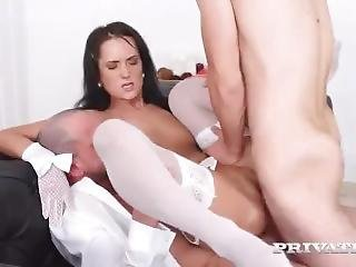 Angie Star Get Dp By Two White Guys