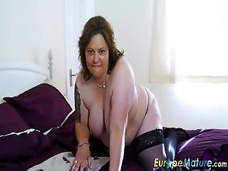 Europemature Busty Curvy Mature Toy Masturbation