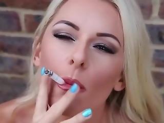 Mikaela Witt Smoking Outdoors (js)