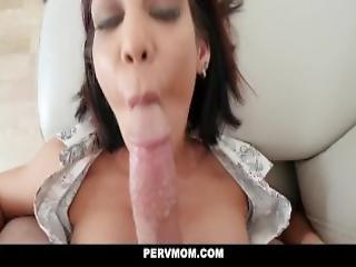 Pervmom Stepson Gets Blowjob From Horny Stepmom