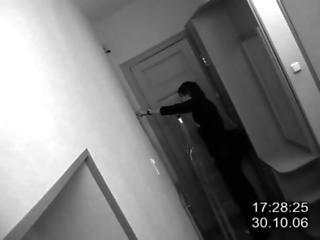 Security cam in hallway