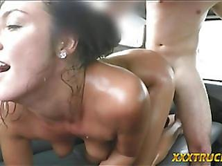Slut Blowjobs And Gets Pussy Fucked By Tow Truck Driver