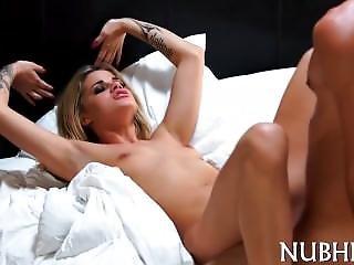 Gal With Tiny Tits Banged Hard