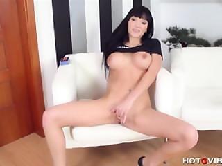 Busty European Babe Enjoys Herself