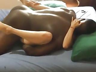 Big Black Man Bangs Out Wife In Front Of Hubby