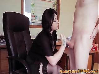 Office Cfnm Femdom Sucking Coworkers Cock