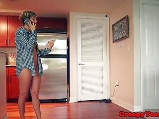 Glam Petite Roughfucked By An Intruder Before Tasting His Jizz