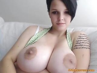 Girl Shows Her Big Tits On Webcam