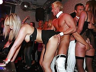 Clothed Female Nude Male Party