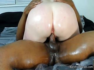 Pale Bbw Takes A Hard Bbc Pounding