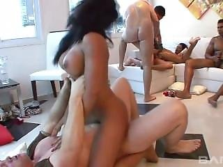 Anal Hardcore Orgy With Horny Latinas
