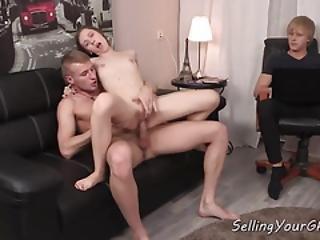 Skinny Russian Teen Makes Bf Cuckold