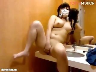 Japanese Bigtits Get Caught Naked & Masturbate At Manga Cafe Live Chat 1
