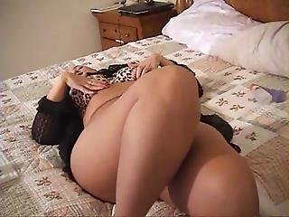 Belle Strips Out Of Her Dress And Cums In Pantyhose
