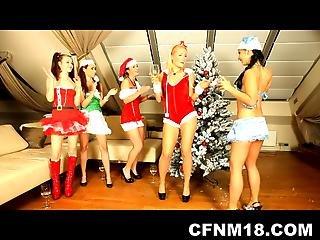 CFNM, 샴페인, 그룹 섹스, 하드 코어, 파티, 섹스, 하이틴