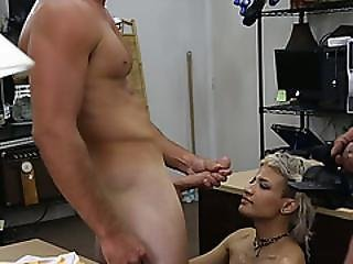 Cute Horny Babe Having To Sell Her Tight Pussy