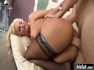 Sexy Milf In Stockings Gets Plowed