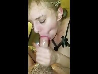 amateur, bonasse, gros téton, blonde, pipe, éjaculation, branlette, chapeau
