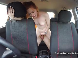 Fake Driving Instructor Fucks Redhead