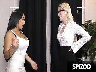 Priya Has A Great Idea Getting Cristi Ann To Have A Three Way With Her And Her Client, Ralph, To Help Close The Deal Enjoy, This Hot Threesome Action!!!!
