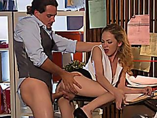 Tight Blonde Babe Angel Gets Her Wet Pussy Deeply Pounded