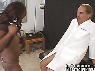 Fit Black Bitch Electified Blowjob!