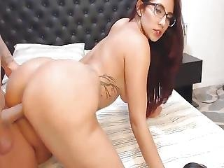 Nerdy Babe Fucked By Her Bf On Her Ass
