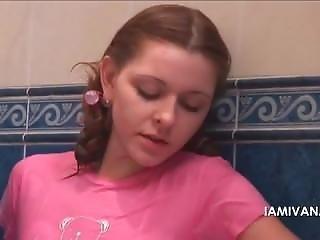 Girl In Pink Clothes Shower Masturbation